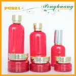 Red Coating Cosmetic Bottles And Jars